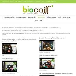 Temoignages des clientes Biocoiff'