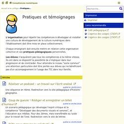 Pratiques et témoignages - Compétences numériques