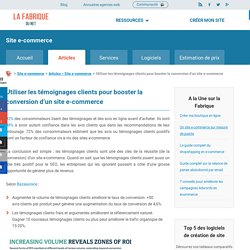 Utiliser les témoignages clients pour booster la conversion d'un site e-commerce