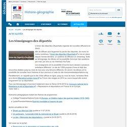 Les témoignages des déportés-Histoire-géographie-Éduscol