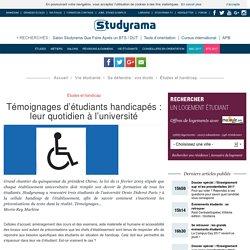 Témoignages d'étudiants handicapés : leur quotidien à l'université