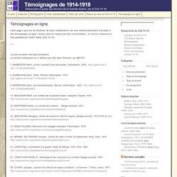 livres pdf témoignages guerre 1914-1918