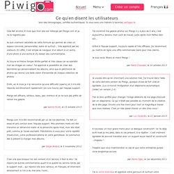 Témoignages Piwigo.com