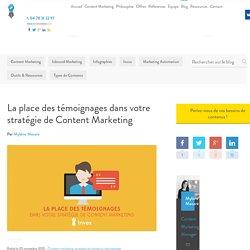 La place des témoignages dans votre stratégie de content marketing