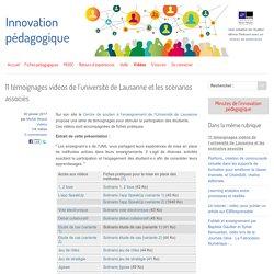 11 témoignages vidéos de l'université de Lausanne et les scénarios associés