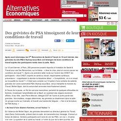 Des grévistes de PSA témoignent de leurs conditions de travail