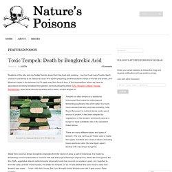 Toxic Tempeh: Death by Bongkrekic Acid
