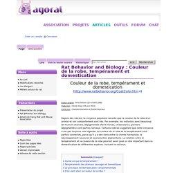 Rat Behavior and Biology : Couleur de la robe, tempérament et domestication - Association Agorat du Rat Domestique