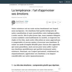 (18) La tempérance : l'art d'apprivoiser ses émotions