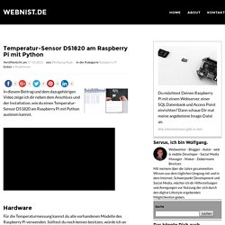 Temperatur-Sensor DS1820 am Raspberry Pi mit Python -