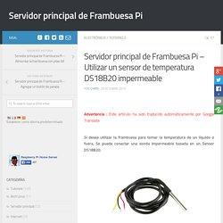 Servidor principal de Frambuesa Pi - Utilizar un sensor de temperatura DS18B20 impermeable