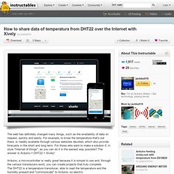How to share data of temperatura from DHT22 over the Internet with Xively
