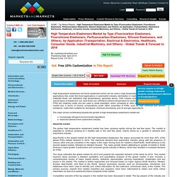 High Temperature Elastomers Market by Type & Application