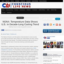 NOAA: Temperature Data Shows U.S. in Decade-Long Cooling Trend