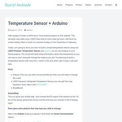 Temperature Sensor + Arduino « DanielAndrade.net