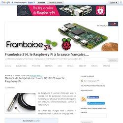 Mesure de température 1-wire DS18B20 avec le Raspberry Pi