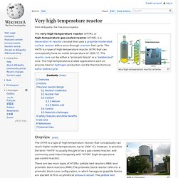 Very high temperature reactor