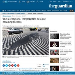 The latest global temperature data are breaking records