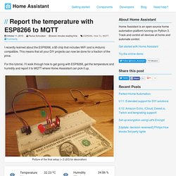 Report the temperature with ESP8266 to MQTT - Home Assistant