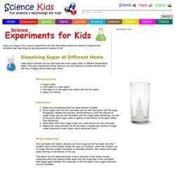 Dissolving sugar in different temperature solutions