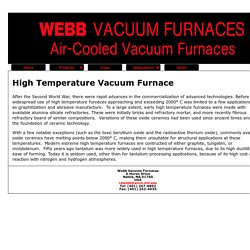 High Temperature Vacuum Furnace - Webbvacuumfurnaces