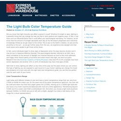 The Light Bulb Color Temperature Guide