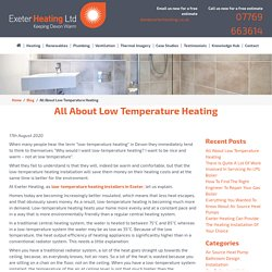 All About Low Temperature Heating