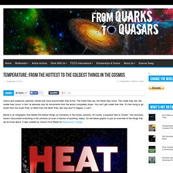 Temperature: From the Hottest to the Coldest Things In the Cosmos
