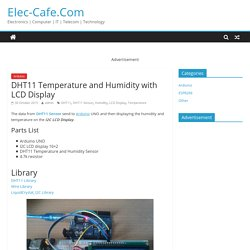 DHT11 Temperature and Humidity with LCD Display