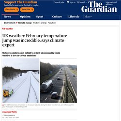 *****UK weather: February temperature jump was incredible, says climate expert
