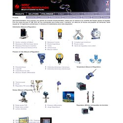 Mesure et régulation de débit, pression, température et niveau - Serv'Instrumentation