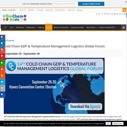 Cold Chain GDP & Temperature Management Logistics Global Forum
