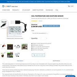Soil Temperature and Moisture Sensor – UbiBot Online Store