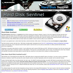 Hard Disk Sentinel - HDD health and temperature monitoring