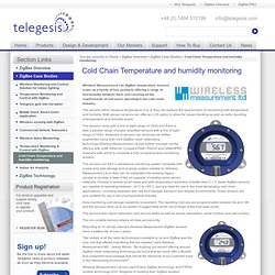 Cold Chain Temperature and humidity monitoring - Telegesis