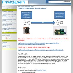 Wireless Temperature Sensor Project - PrivateEyePi Project