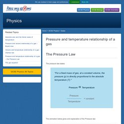 Pressure and temperature relationship of a gas – The Pressure Law - Pass My Exams: Easy exam revision notes for GSCE Physics