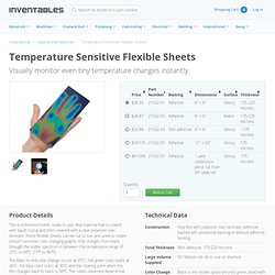 Temperature Sensitive Flexible Sheets