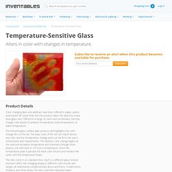 Temperature-Sensitive Glass