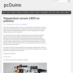 Temperature sensor LM35 on pcDuino