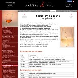 Température de service du vin