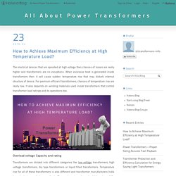 Power Transformers - overload voltage capacity and rating