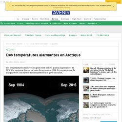Des températures alarmantes en Arctique