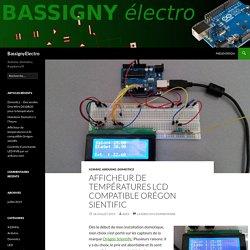 Afficheur de températures LCD compatible Orégon sientific - BassignyElectro