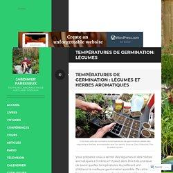 Températures de germination: légumes