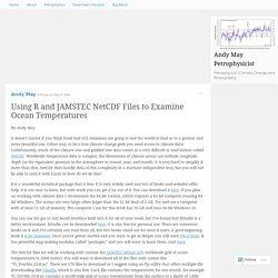 Using R and JAMSTEC NetCDF Files to Examine Ocean Temperatures