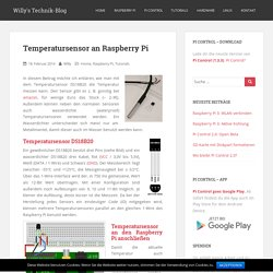 Temperatursensor an Raspberry Pi - Willy's Technik-Blog