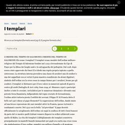 I Templari - Appunti di Storia gratis Studenti.it