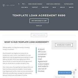 Template Loan Agreement R690