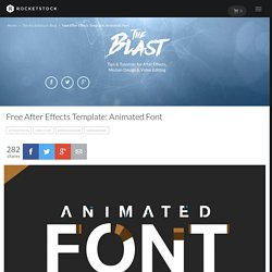 Free After Effects Template: Animated Font 'Helvetica Neue'